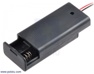 2-AA Battery Holder, Enclosed with Switch POLOLU-1160 Pololu Australia - Express Delivery Australia Wide