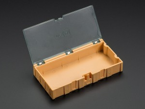 Large Modular Snap Box - SMD component storage - Orange ADA434 Adafruit in Australia - Express Delivery Australia Wide