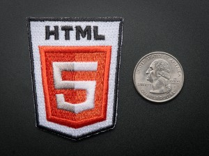 HTML 5 - Skill badge, iron-on patch ADA604 Adafruit Australia