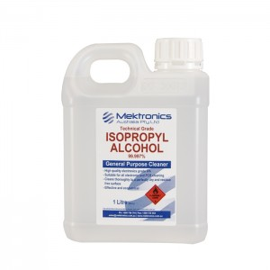 IPA Technical Grade, 99.997%, Isopropyl Alcohol 1 litre CE04601 Core Electronics Products - In Stock - In Australia
