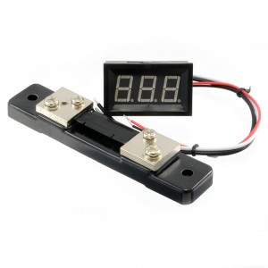 Digital Display Ammeter DC 0-50A Blue 018-05-AM-50A-BL