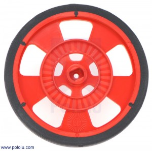 Solarbotics GMPW-R RED Wheel with Encoder Stripes, Silicone Tire POLOLU-980 Pololu Australia