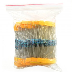 600 Pack of 1/4 Watt 1% Resistors (30 values, 20 of each) 018-03-600PK-1/4W-RES