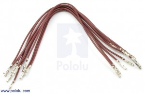 "Wires with Pre-crimped Terminals 10-Pack F-F 6"" Brown POLOLU-1811 Pololu Australia"