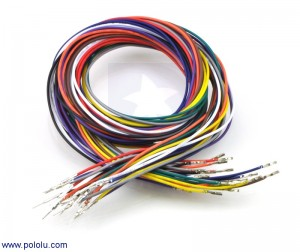 "Wires with Pre-crimped Terminals 20-Piece Rainbow Assortment M-F 36"" POLOLU-2001 Pololu Australia - Express Delivery Australia Wide"