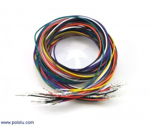 "Wires with Pre-crimped Terminals 20-Piece Rainbow Assortment M-M 36"" POLOLU-2002 Pololu Australia - Express Delivery Australia Wide"