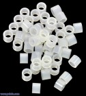 Nylon Spacer: 4mm Length, 5mm OD, 3.3mm ID (50-Pack) POLOLU-1981 Pololu Australia - Express Delivery Australia Wide (Thumbnail 1)