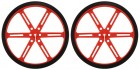 Pololu Wheel 90x10mm Pair - Red POLOLU-1436 Pololu Australia - Express Delivery Australia Wide (Thumbnail 1)