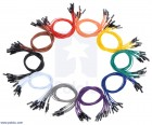 "Premium Jumper Wire 10-Pack M-M 12"" Blue POLOLU-1766 Pololu Australia - Express Delivery Australia Wide (Thumbnail 4)"