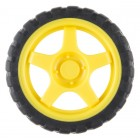 Wheel - 65mm (Rubber Tire, Pair) ROB-13259 Sparkfun Australia - Express Delivery Australia Wide (Thumbnail 1)