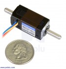 Sanyo Miniature Stepper Motor: Bipolar, 200 Steps/Rev, 14×30mm, 6.3V, 0.3 A/Phase, Double Shaft POLOLU-2295 Pololu Australia - Express Delivery Australia Wide (Thumbnail 1)