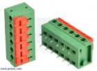 """Screwless Terminal Block: 6-Pin, 0.2"""" Pitch, Side Entry (2-Pack) POLOLU-2434 Pololu Australia - Express Delivery Australia Wide (Thumbnail 1)"""