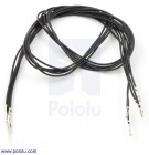 "Wires with Pre-crimped Terminals 5-Pack M-F 24"" Black POLOLU-1880 Pololu Australia - Express Delivery Australia Wide (Thumbnail 1)"