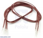 "Wires with Pre-crimped Terminals 5-Pack M-M 24"" Brown POLOLU-1891 Pololu Australia - Express Delivery Australia Wide (Thumbnail 1)"