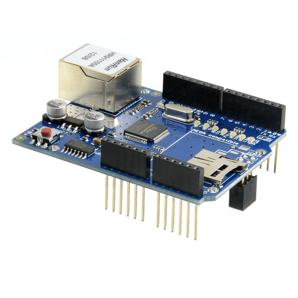 W5100 Ethernet + SD Card Shield (Arduino Compatible)CE05307 (Thumbnail 1)