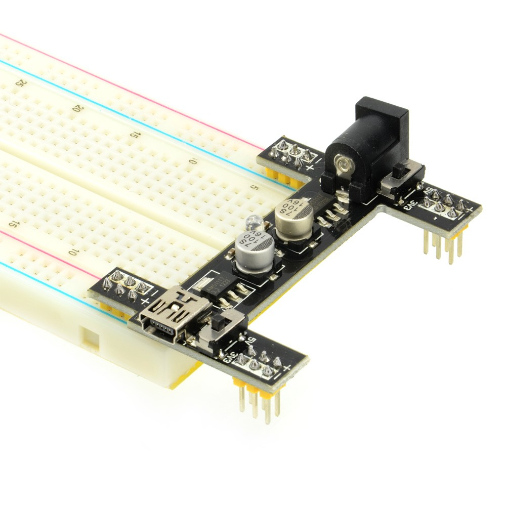 3.3V + 5V Black Wings Breadboard Power Supply Module Adaptor010-BLKWING-PWR  (Thumbnail 1)