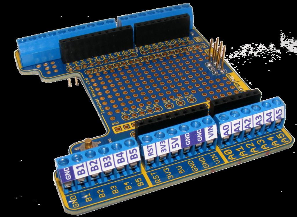 Freetronics terminal shield for arduino australia
