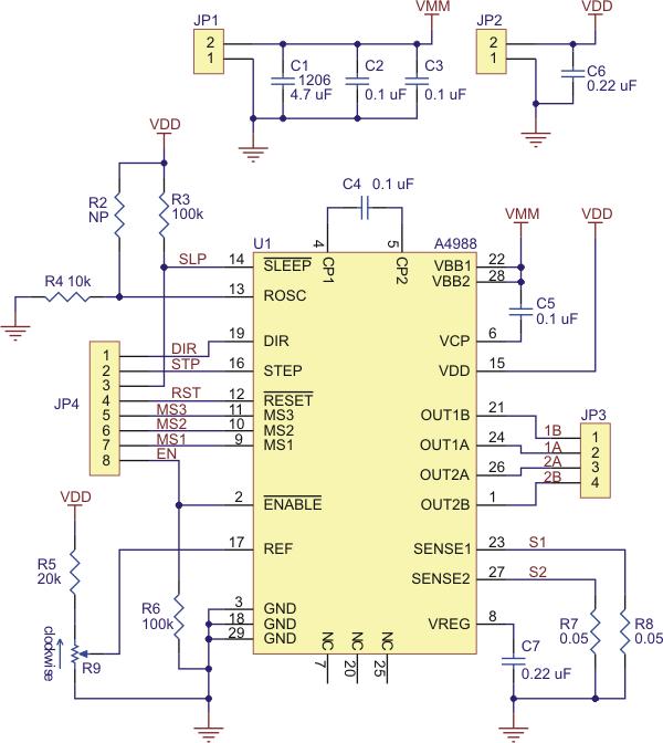a4988 stepper motor driver carrier australia rh core electronics com au Simple Stepper Motor Driver Circuit Stepper Motor Driver
