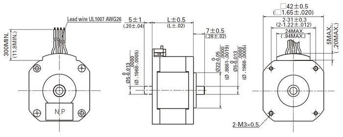 sanyo pancake stepper motor  bipolar  200 steps  rev  42 u00d711