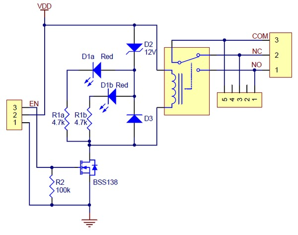 spdt relay schematic diagram pololu basic spdt relay carrier with 5vdc relay (partial ...