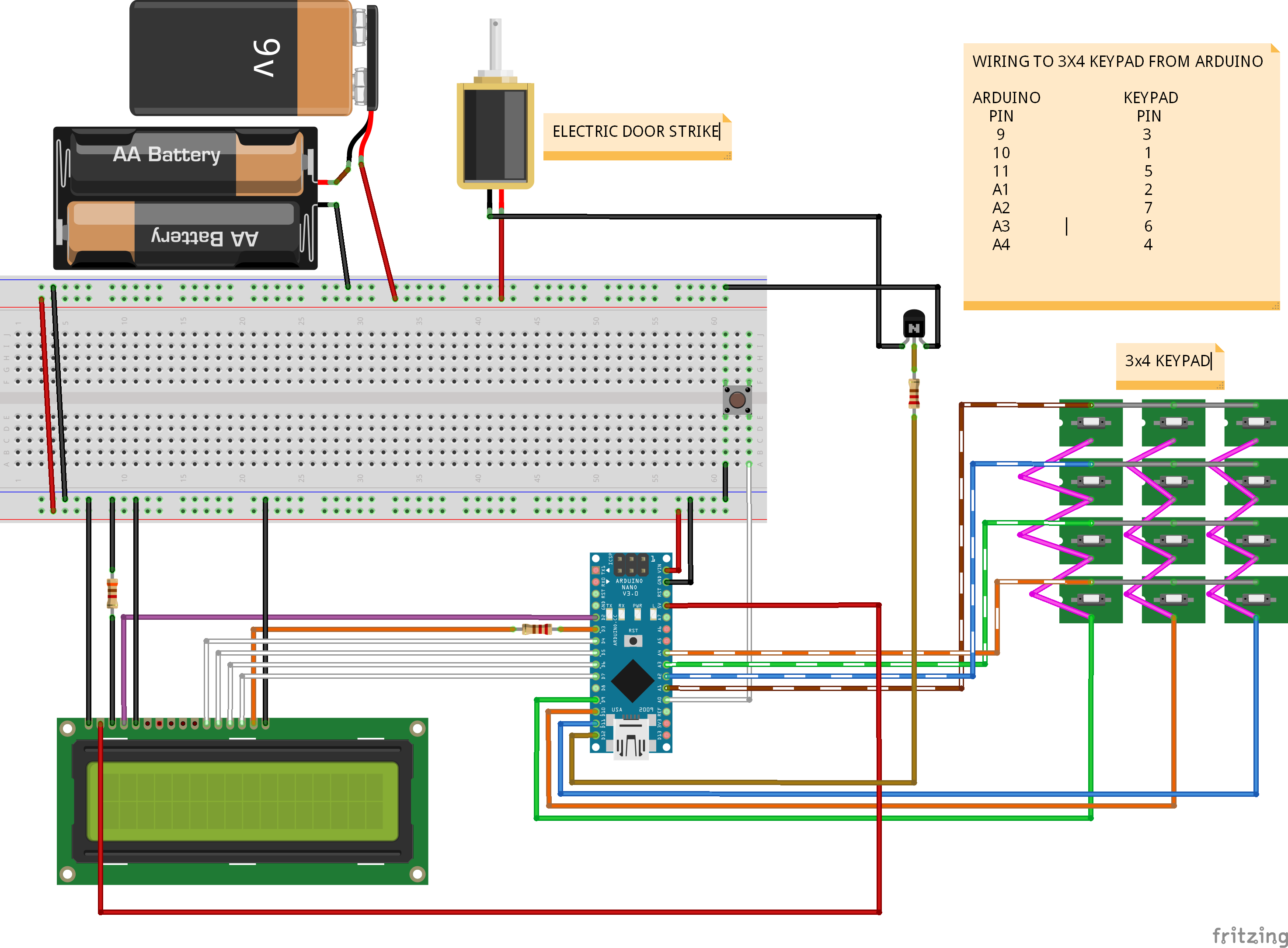 Projects     Keypad    entry to caravan using Arduino Australia