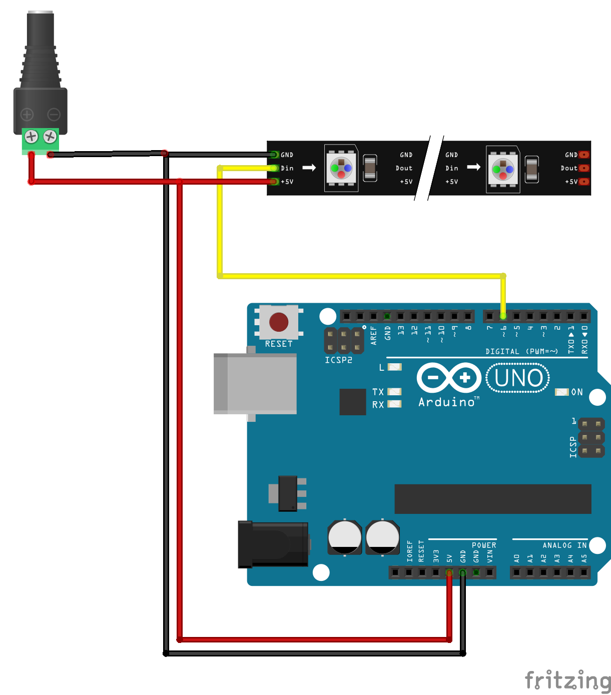 Ws addressable leds arduino quickstart guide