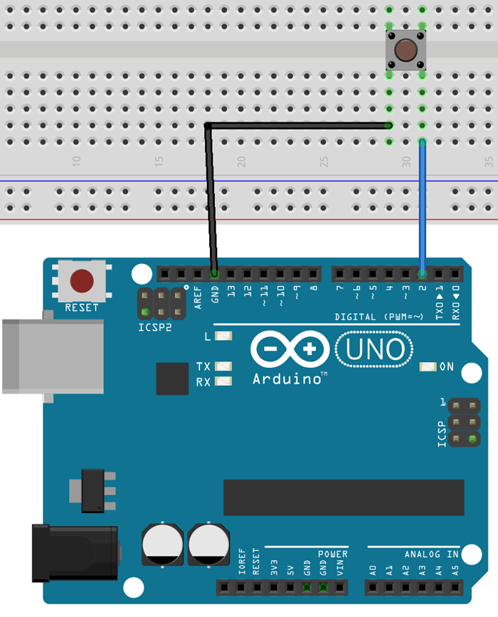 Arduino button wiring diagram