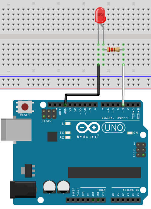 Arduino LED wiring diagram